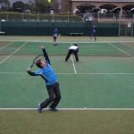 親和銀行テニス部合同練習