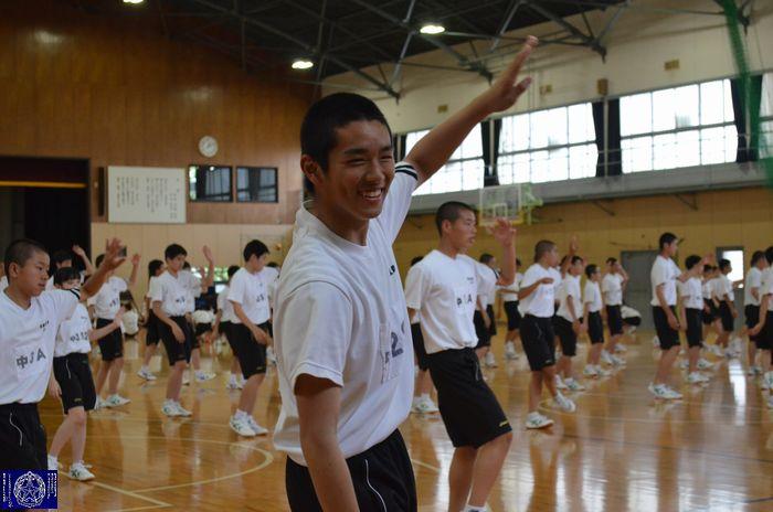 中学応援練習